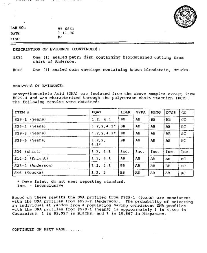 dna evidence report template - 28 images - 28 dna test results ...